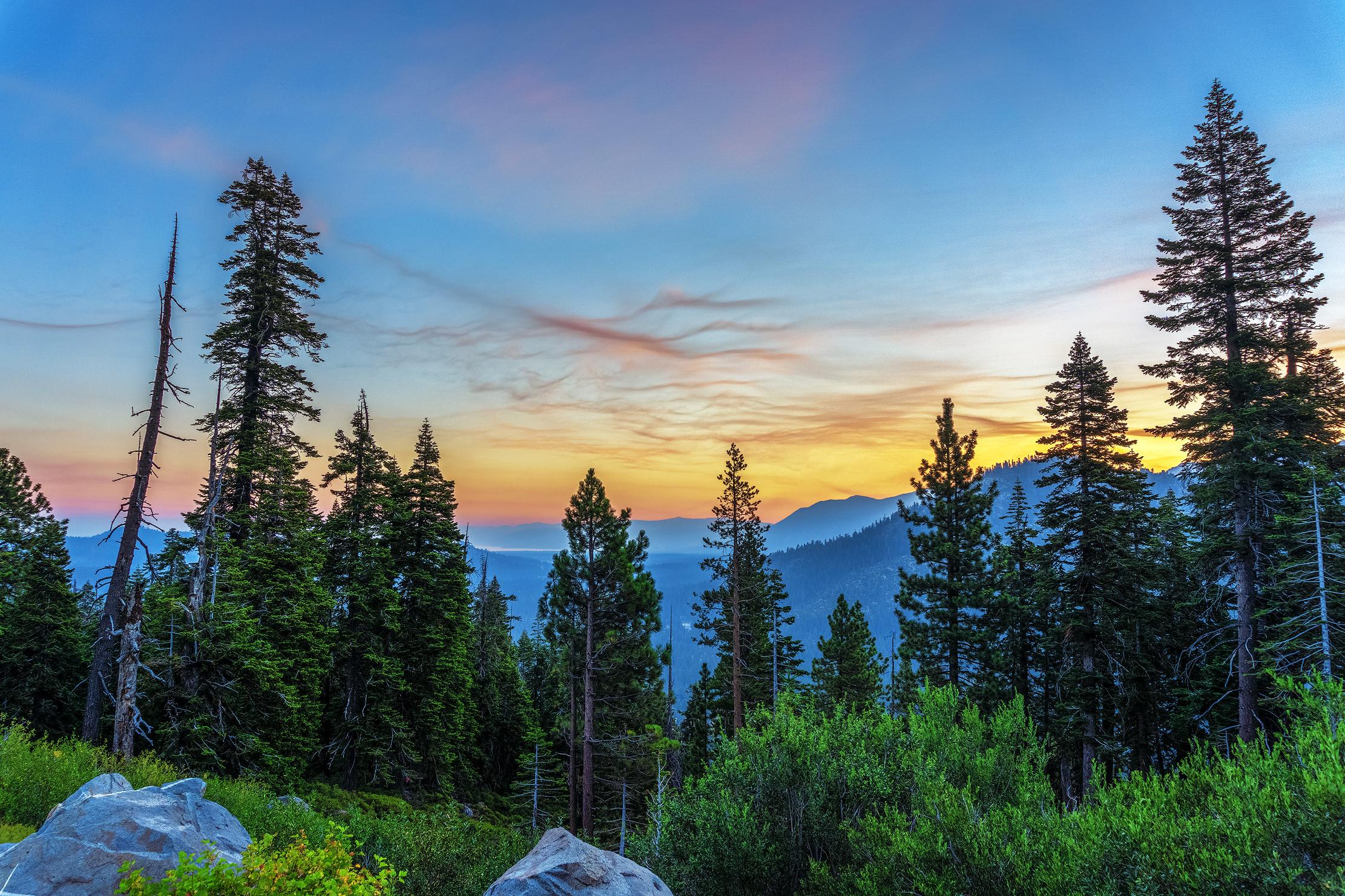 Sunrise Over The Lake Tahoe Basin